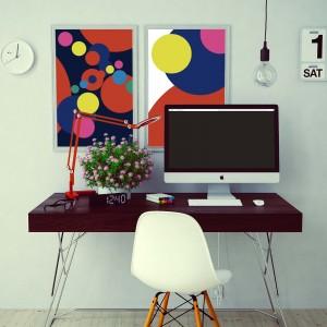 兩幅海報 iMac-mockup