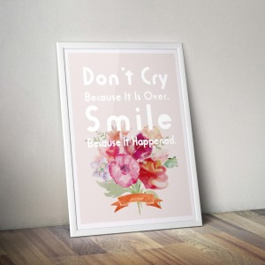 dont cry 白 PSD MockUp