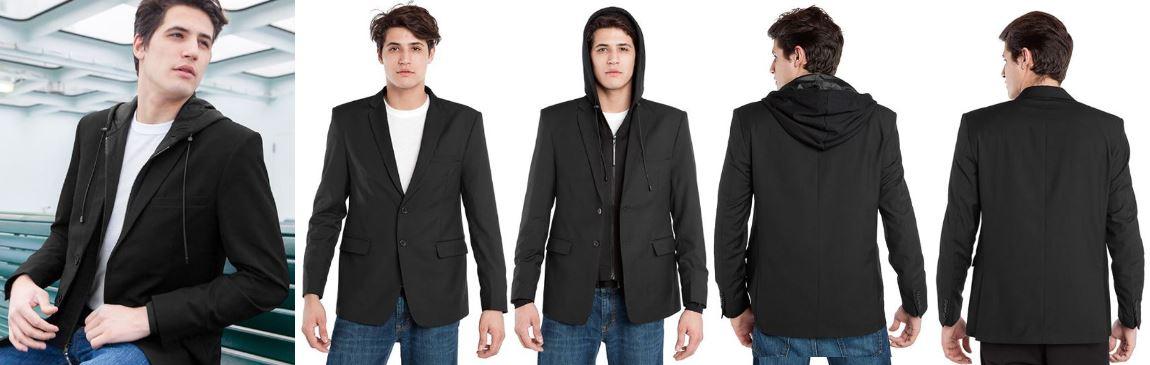 Resize - 美國 BAUBAX 無皺西裝外套 Male - Black