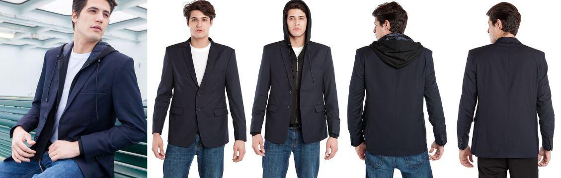 Resize - 美國 BAUBAX 無皺西裝外套 Male - Blue 2