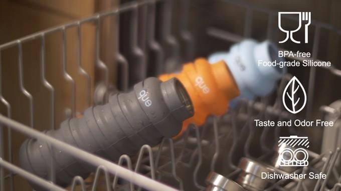美國 que Bottle 超Q彈 省空間 可折疊 時尚水瓶 - 8