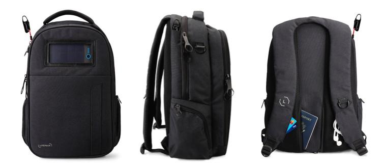 Lifepack 太陽能防盜防水背包 - Black