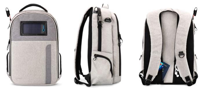 Lifepack 太陽能防盜防水背包 - Grey