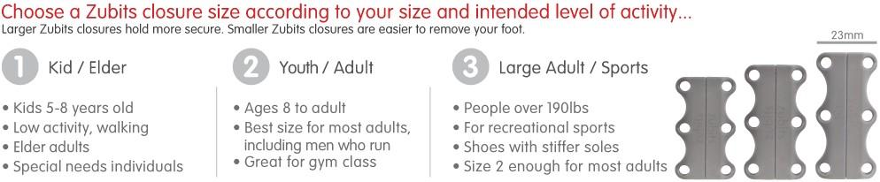 Choose-zubits-size