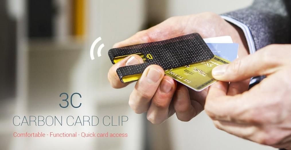 Ogon HK Card case 3C CARBON CARD CLIP 1