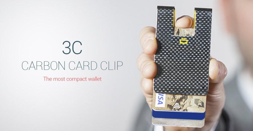 Ogon HK Card case 3C CARBON CARD CLIP 2