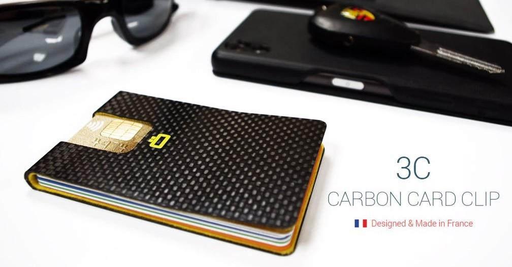 Ogon HK Card case 3C CARBON CARD CLIP 3