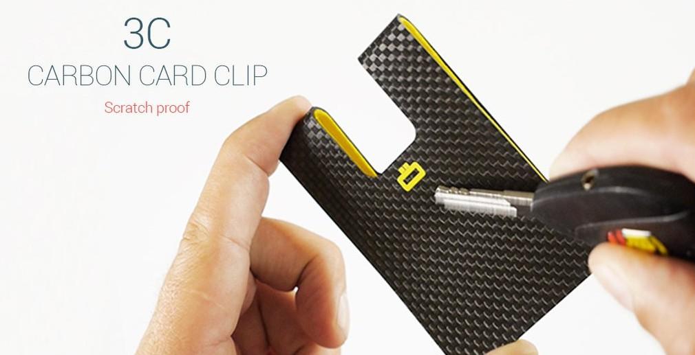 Ogon HK Card case 3C CARBON CARD CLIP 5