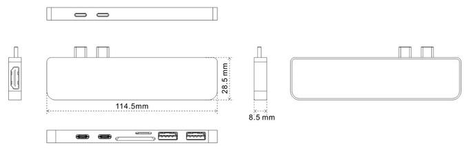 美國 HyperDrive USB-C 7合1 轉插器1111