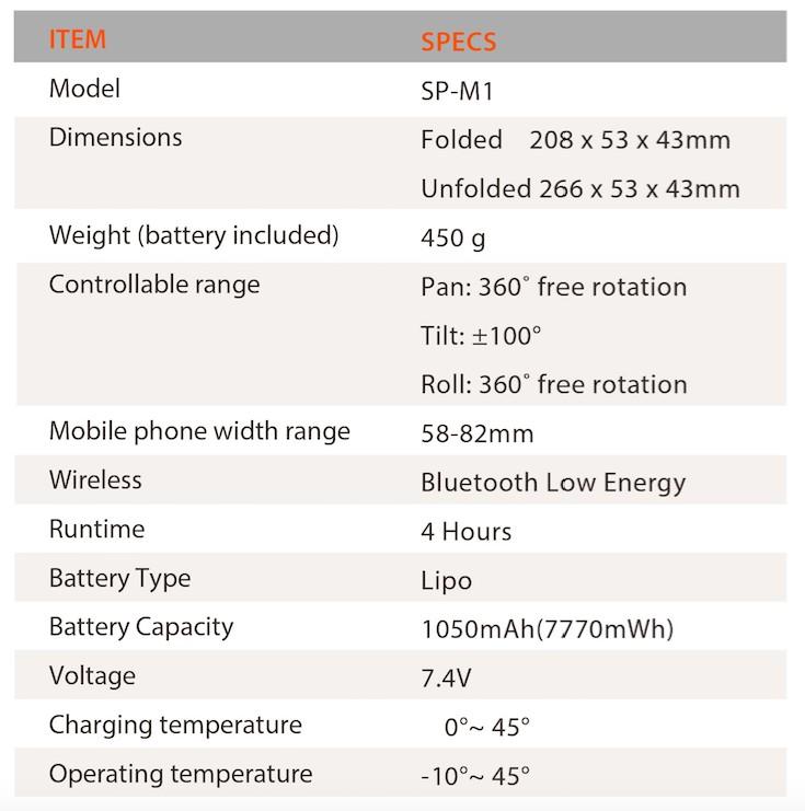 Snoppa M1 智慧型三軸手機穩定器-1