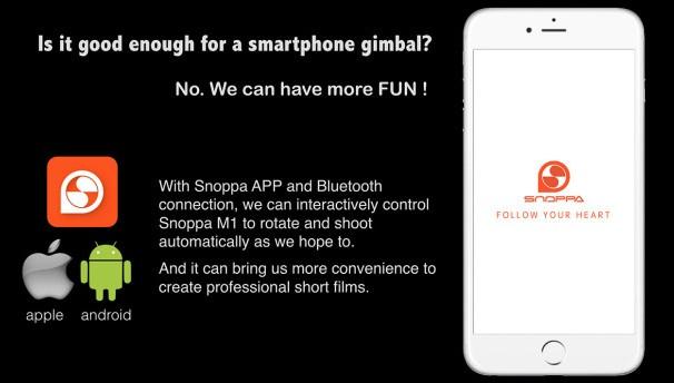 Snoppa M1 智慧型三軸手機穩定器12312