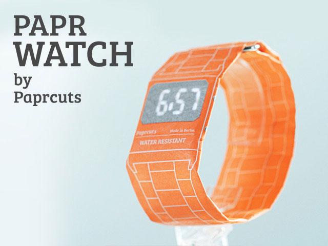 德國 Paprcuts 防水紙手錶19