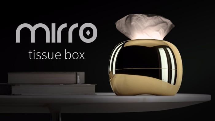 台灣Mirro觸碰式感應面紙燈2