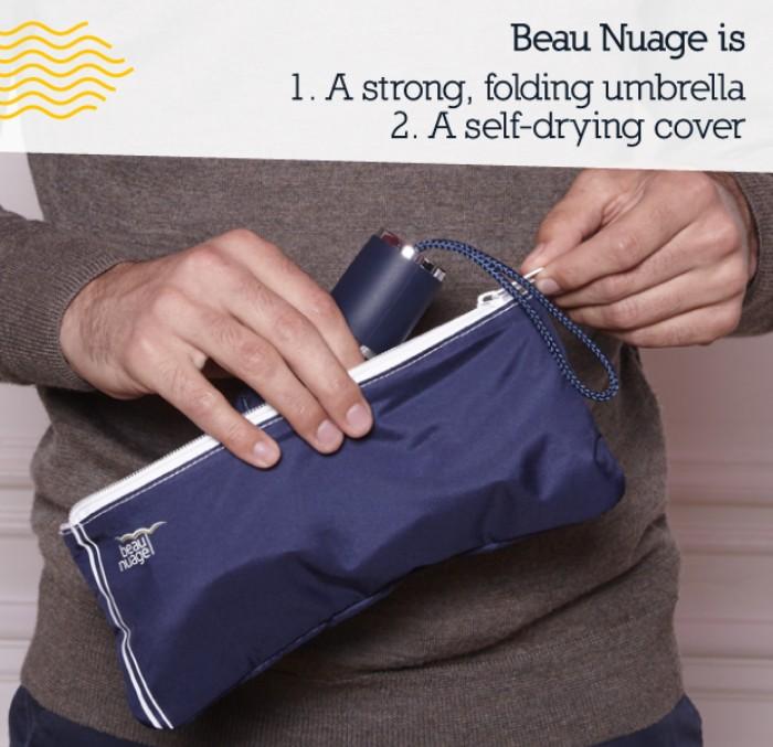 法國Beau Nuage自動晾乾摺傘22