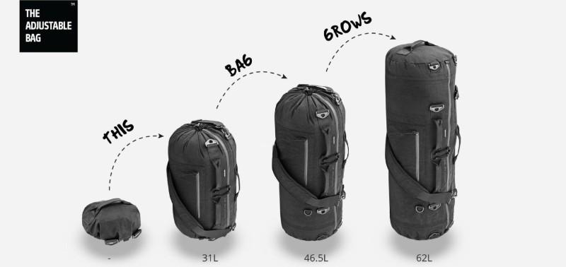 美國 Adjustable 可改變大小的背包26