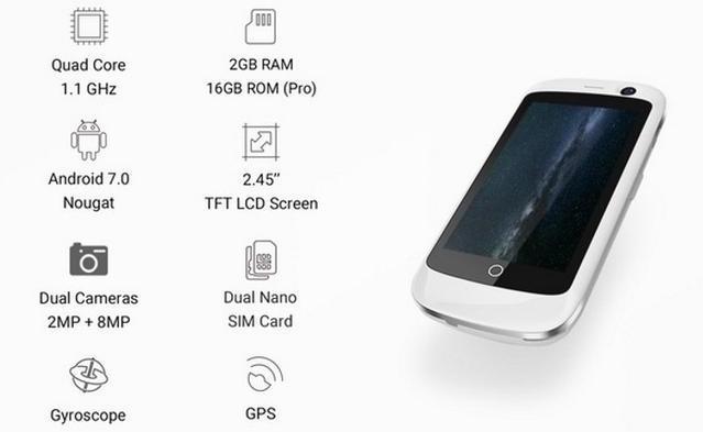 Jelly Pro 全球首款 極細4G智能手機10