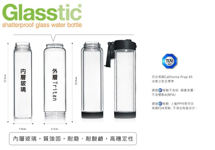 美國 Glasstic 安全防護玻璃運動水瓶26