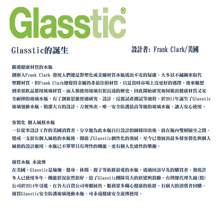 美國 Glasstic 安全防護玻璃運動水瓶29