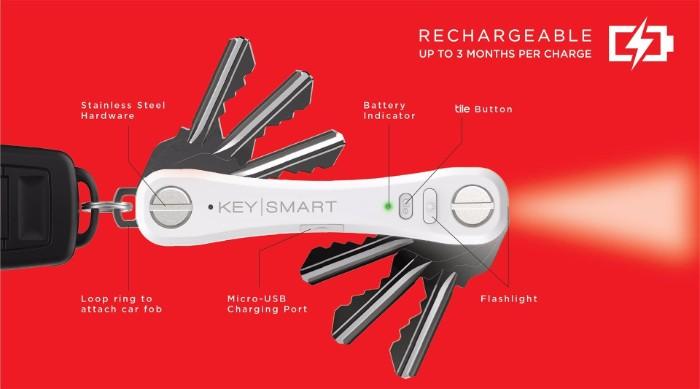 美國KeySmart Pro智能追蹤鑰匙收納器4
