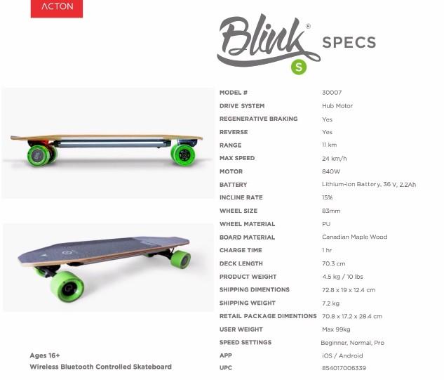 BLINK S美國 Blink 遙控電動滑板