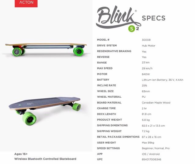 BLINK S2美國 Blink 遙控電動滑板