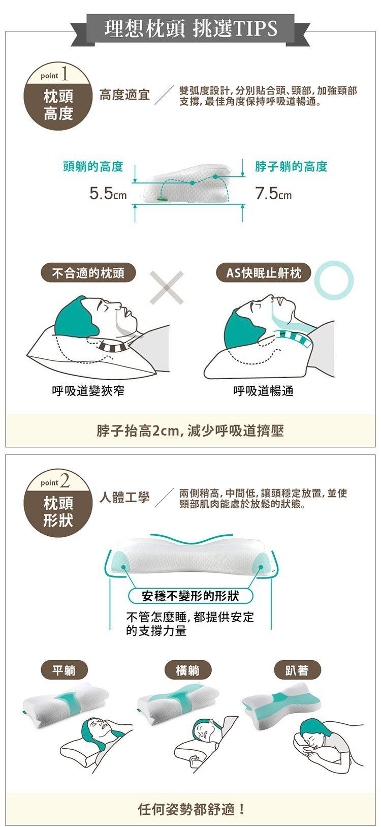 日本 AS 止鼻鼾 秒速入眠枕5