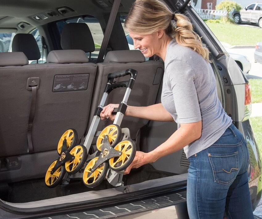 1美國 UpCart 超輕量摺疊爬梯手推車
