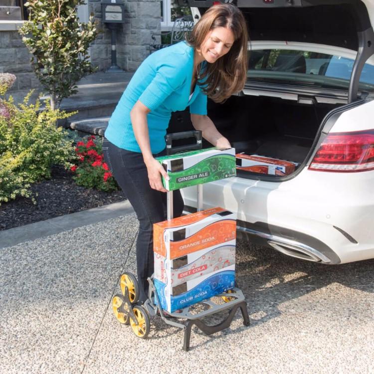10美國 UpCart 超輕量摺疊爬梯手推車