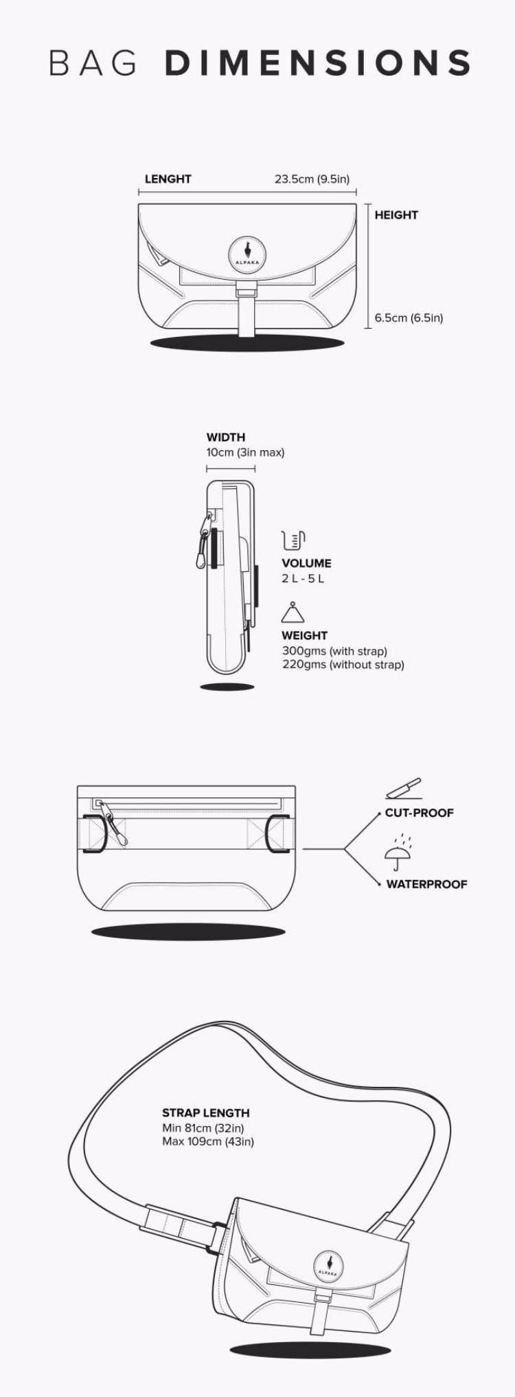 6澳洲Air Sling多功能防盜便攜側肩包