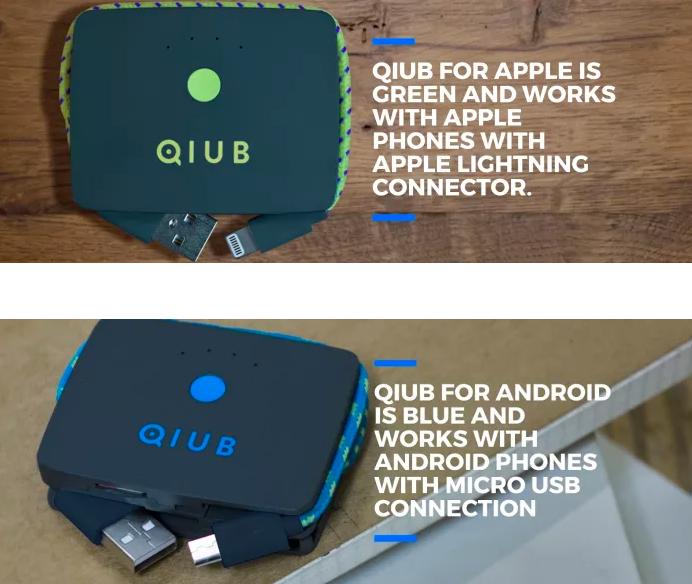 Qiub 3合1智能充電線3