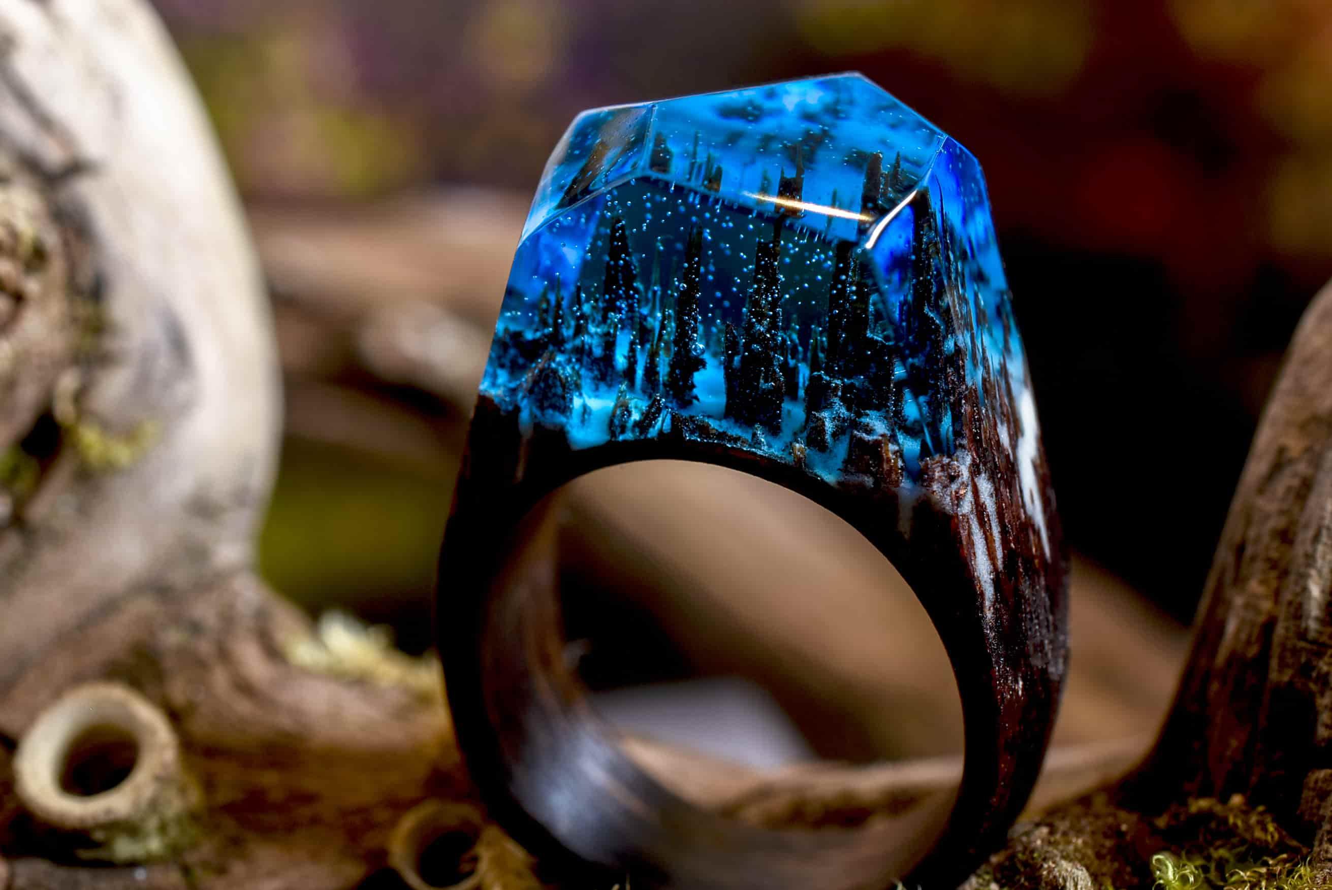 加拿大 Secret Wood 全手工樹脂木戒指 5