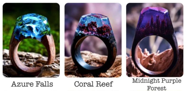 加拿大 Secret Wood 全手工樹脂木戒指 ring 1