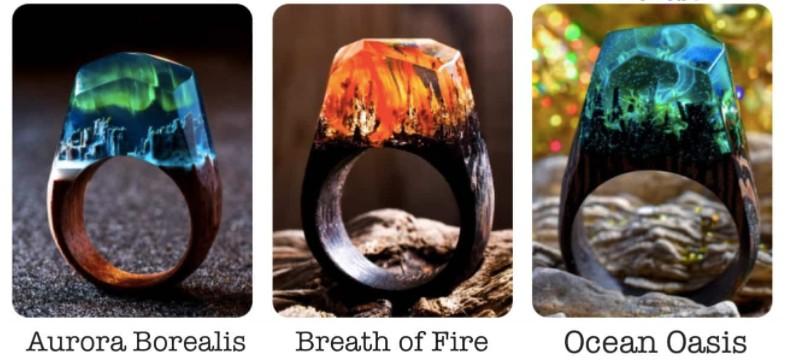 加拿大 Secret Wood 全手工樹脂木戒指 ring 2