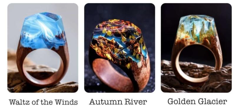 加拿大 Secret Wood 全手工樹脂木戒指 ring 3
