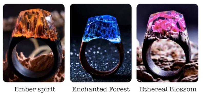 加拿大 Secret Wood 全手工樹脂木戒指 ring 4