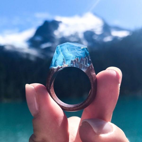 加拿大 Secret Wood 全手工樹脂木戒指25