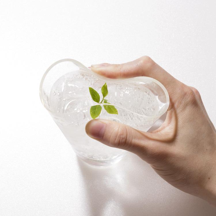 日本 shupua 透明仿玻璃矽膠杯10