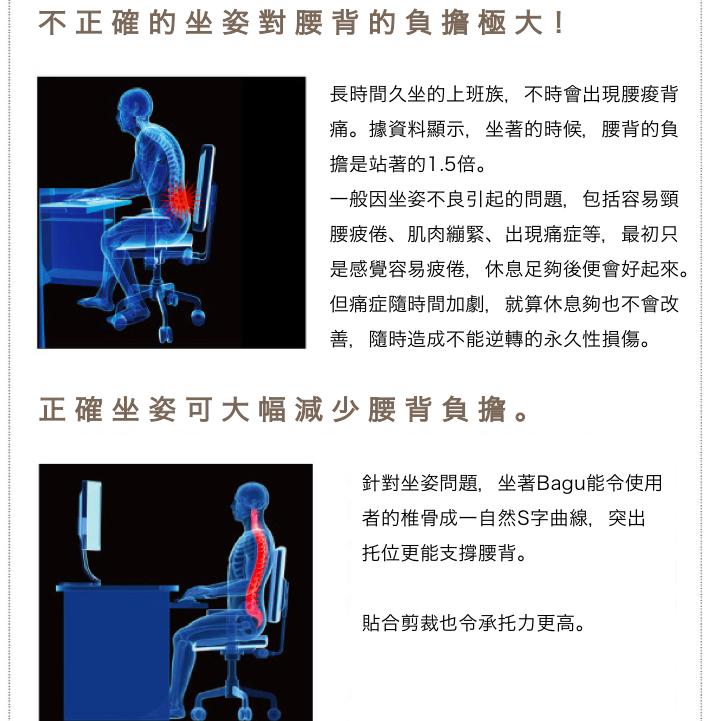 日本 Bagu 護腰坐墊2
