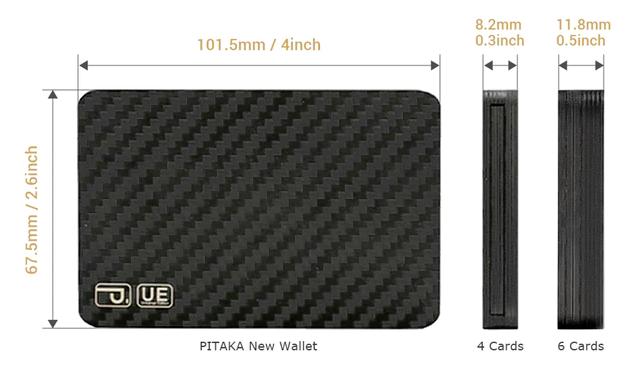 PITAKA 碳纖維磁力百變錢包4441