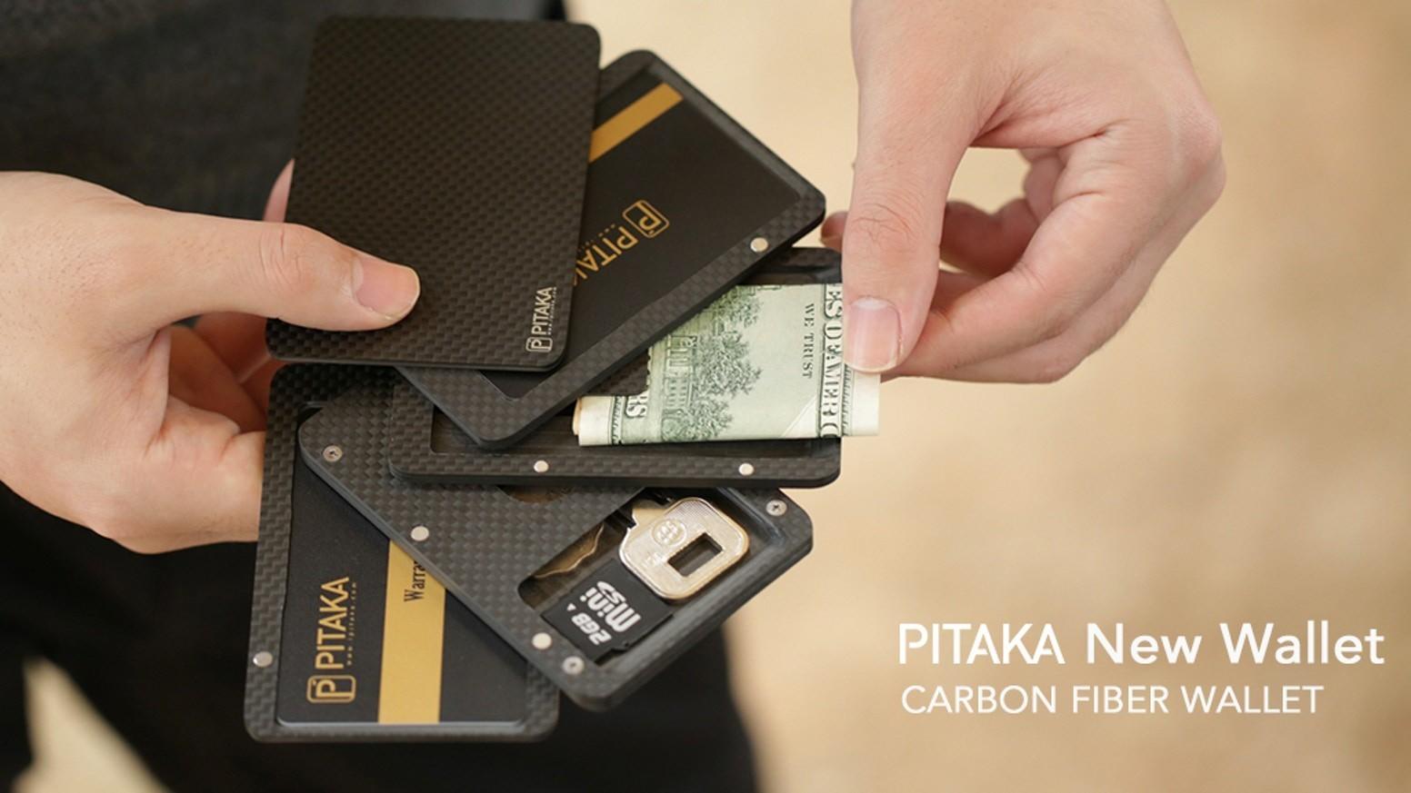 PITAKA 碳纖維磁力錢包 11