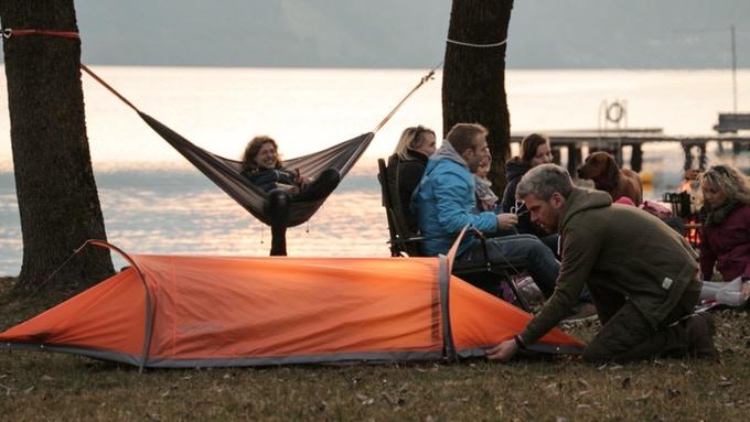 奧地利 FlyingTent  3合1多功能露營帳篷8