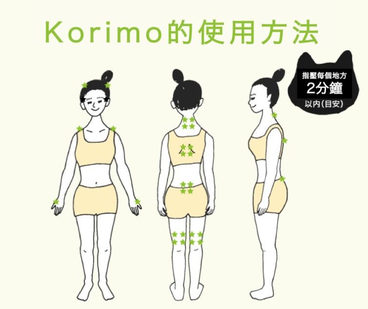 日本 Korimo 貓貓指壓枕6