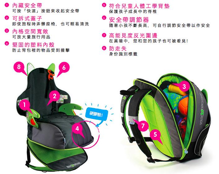 英國 BoostApak 兒童坐椅 背包12