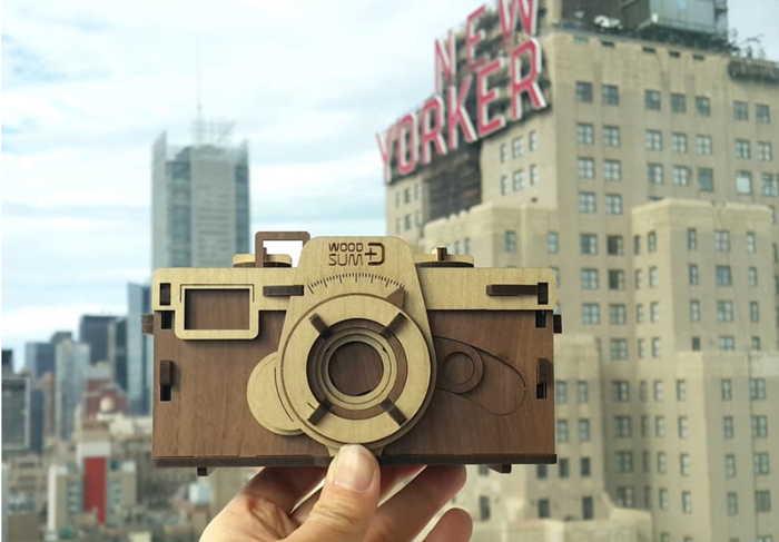 韓國 WOODSUM 木製菲林相機10