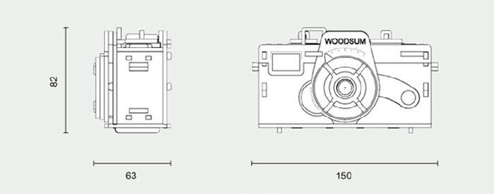 韓國 WOODSUM 木製菲林相機14