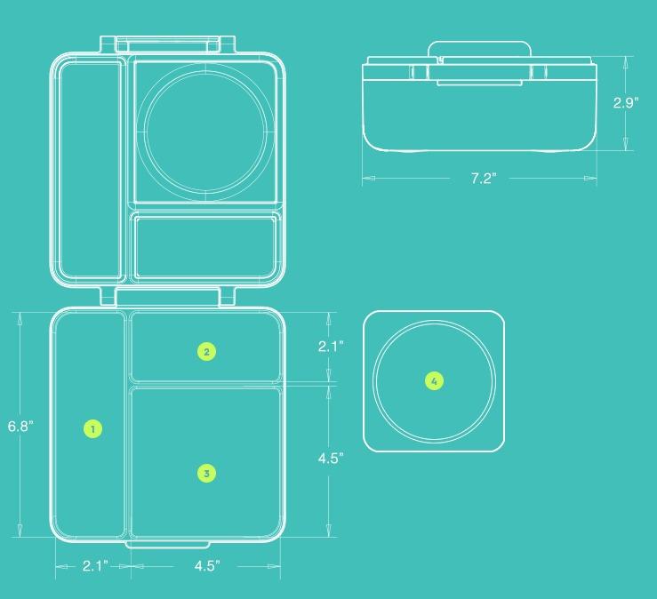 17美國Omiebox保冷保熱三層防漏餐盒