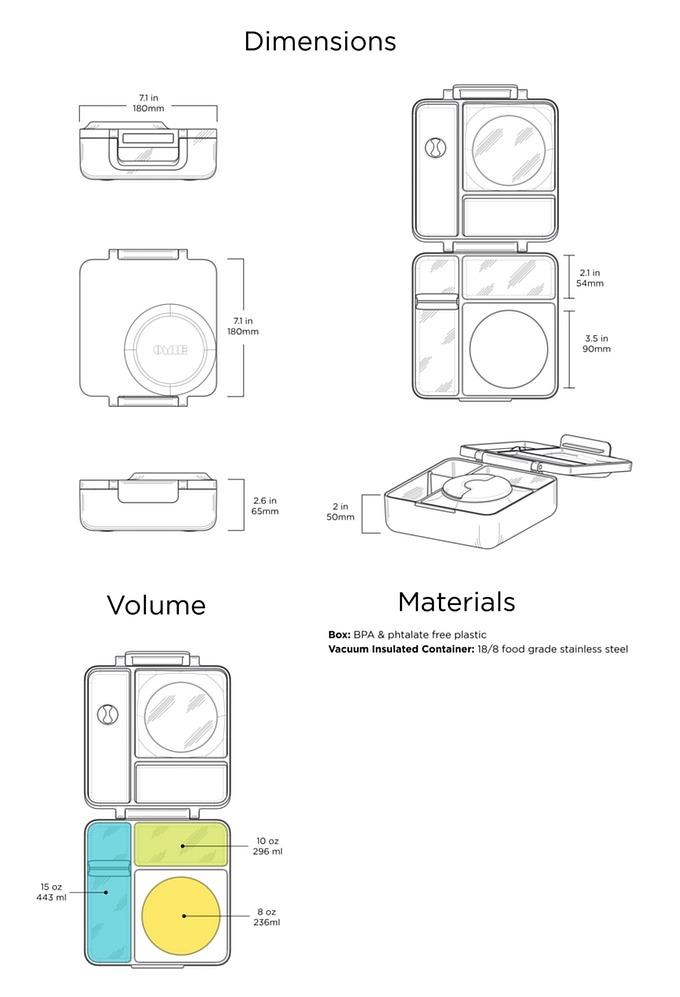 31美國Omiebox保冷保熱三層防漏餐盒
