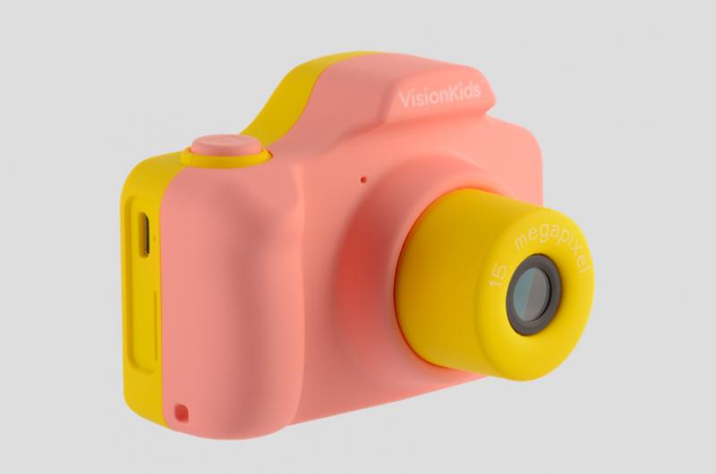 日本 VisionKids Happi CAMU 兒童攝影相機 pink