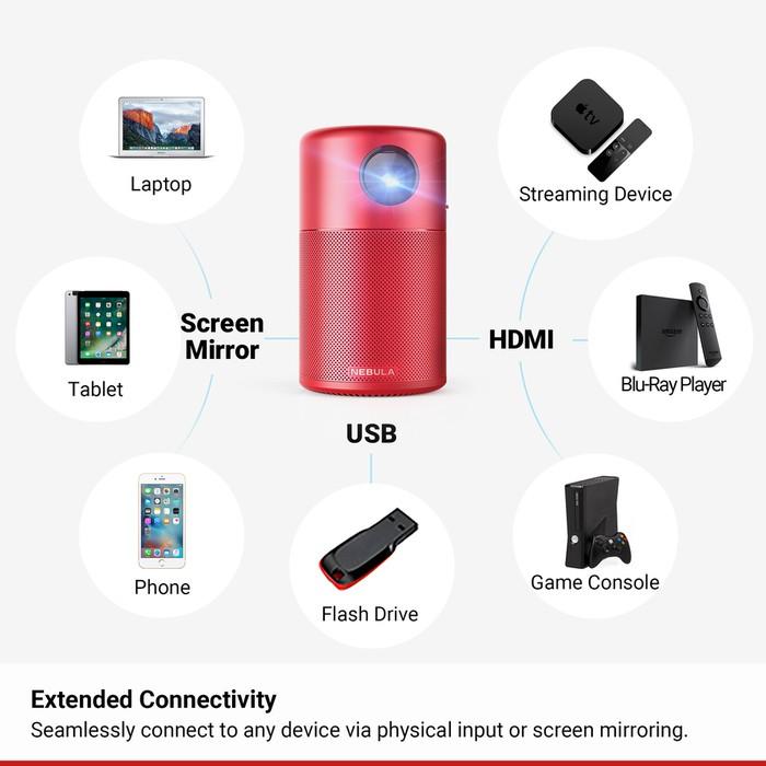 10美國NEBULA Capsule 可樂罐微型智能投影機