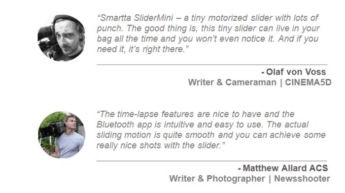 3SliderMini 手機搖控 便攜攝影路軌